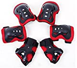 Meta-U 6 Pcs Children Roller Skating Protective Gear – 2 Wrist Pads + 2 Elbow Pads + 2 Knee Pads For 3-7 Years Old