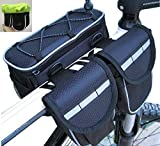 YF-TOW Bike Frame Top Tube Pannier Bag with Rainproof Cover for Mountain Bicycle Road Bicycle