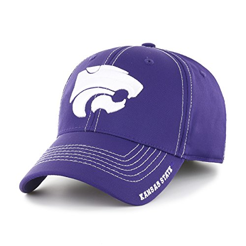 (NCAA Kansas State Wildcats Adult Start Line Ots Center Stretch Fit Hat, Large/X-Large,)