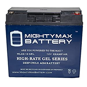 Mighty Max Battery 12V 22AH GEL Battery for Stanley J5C09 50 Amp Jumpstarter brand product
