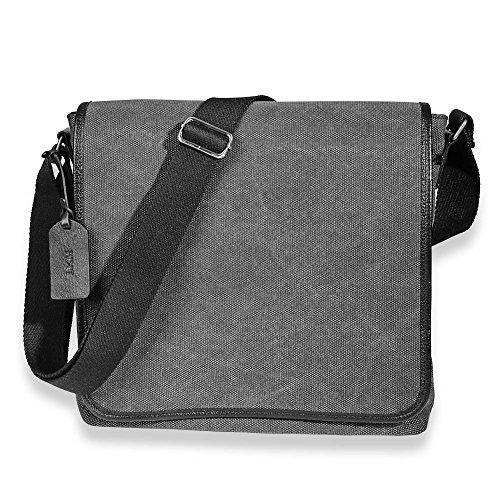 Levenger Metro Canvas Messenger Bag (stocked with free reading tools) (Metro Messenger Bag)