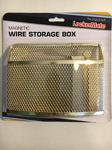 Wire Storage Lockers (Gold Mesh Wire Magnetic Storage Box by LockerMate)