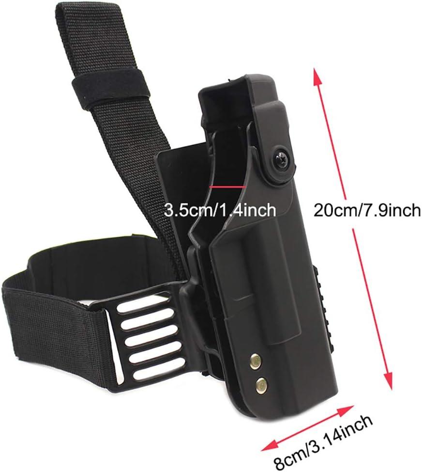 Tactical Glock Revolver Holster Airsoft Leg Thigh Pouch Gun Case Belt Cuisse