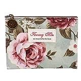 Blueseao Vintage Floral Printed Bag Women Make Up Bags Travel Bag Make Up Pouch Coin Bag (SS)