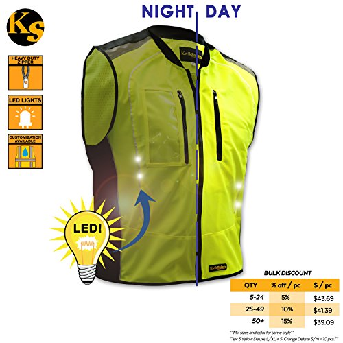 KwikSafety Firefly Racing LED Cycling Vest | Hi Vis Refle...
