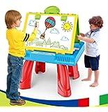 MOWA 3in1 Kids Easel Projection Painting Desk, Chalk Board, White Board, Child Learning Desk With Smart Projector Kids…