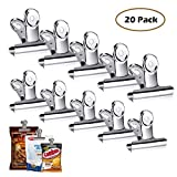 Chip Clips Bag Clips Food Clips - 20 Heavy Duty Clips for Bag -All-Purpose Air Tight Seal Grip Clips Cubicle Hooks for Kitchen Office School