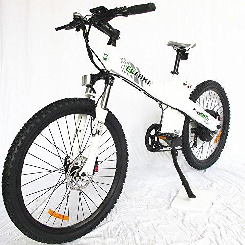 E-go Electric E Bike Hydraulic Brake 1000w 48v13ah White Pedal Assist Moped by EGO BIKE