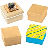 Baker Ross Square Craft Boxes for Children to Decorate for Mothers Day (Pack of 6)