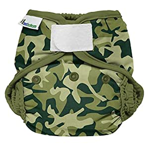 Best Bottom Cloth Diaper Shell-Hook and Loop, Camo