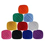 Lot of 10 Pcs Pearl Cotton Crochet Thread Assorted Color Knitting Embroidery Cross Stitch Doilies Skeins Lacey Craft Yarn