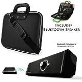 Cady Executive Leather Shoulder Bag For HP Pavilion 11 X2 | HP ENVY X2 11.6-inch Tablet + Bluetooth Speaker