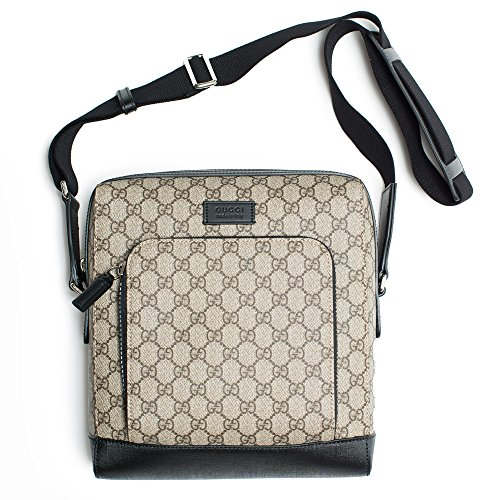 Gucci-Natural-Beige-Ebony-Black-Gg-Canvas-Luggage-Convertible-Crossbody-New