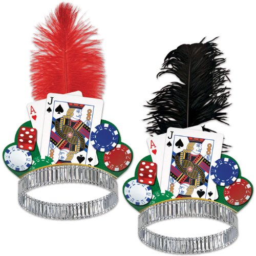 Beistle Casino Night Tiaras - 1 Assorted Color -