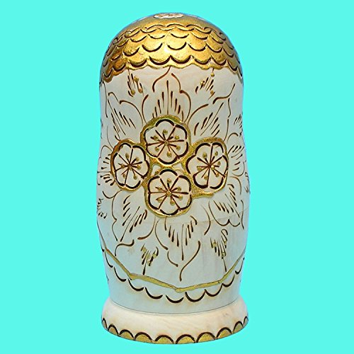 LK King&Light - 10pcs Golden of Plum Pattern Russian Nesting Dolls Matryoshka Wooden Toys by LK (Image #5)