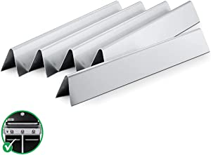 Grisun 7620 17.5inch Flavorizer Bars for Weber Genesis 300 Series, SUS-304 Stainless Steel Heat Plates Deflectors for Genesis E310 E320 E330 S310 S320 S330 with Front Control Knobs Gas Grill, 7621
