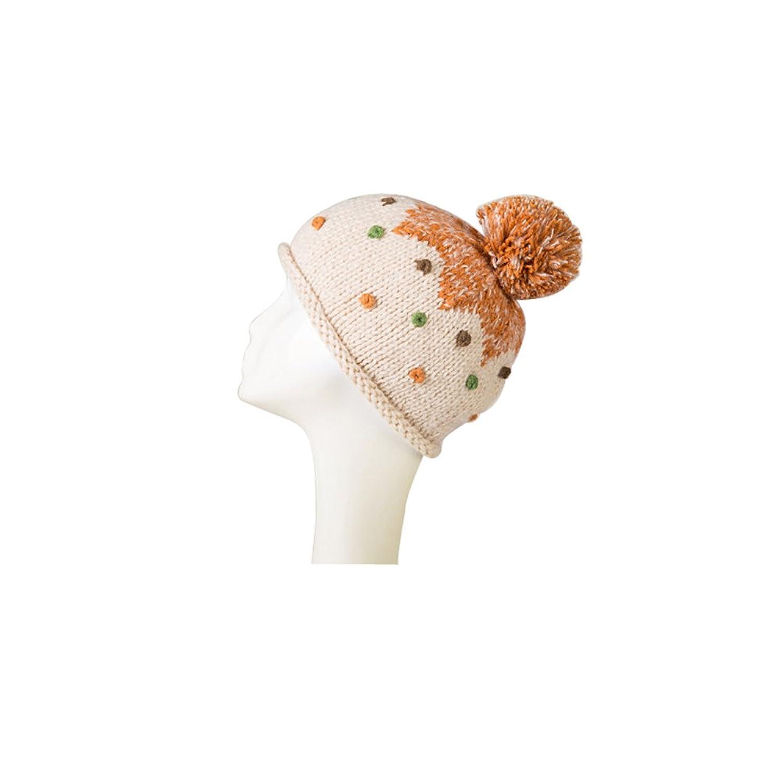 ZORJAR Simplicity Parent-child Dots Hat Winter Hand Knit beret Hat