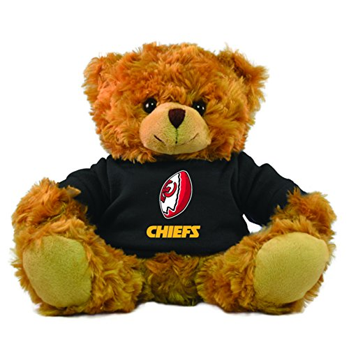 NFL Kansas City Chiefs Rally Men Hoodie Bear, 9-inch, Black