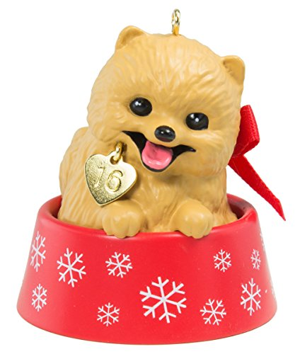 Hallmark Keepsake Ornament Puppy Love Pomeranian 2016