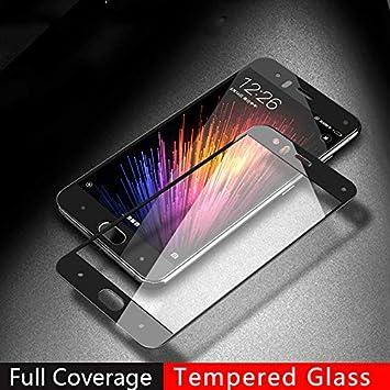 JVSJ - 2 protectores de pantalla para Xiaomi Mi6 Mi 6 para Xiaomi Mi 6 - Protector de pantalla de cristal Mi6 de 128 GB, 64 GB, 9H - Cristal templado de cobertura total