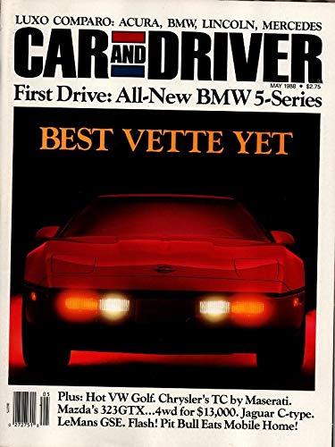 (Car and Driver Magazine, May 1988 (Vol 33, No. 11),
