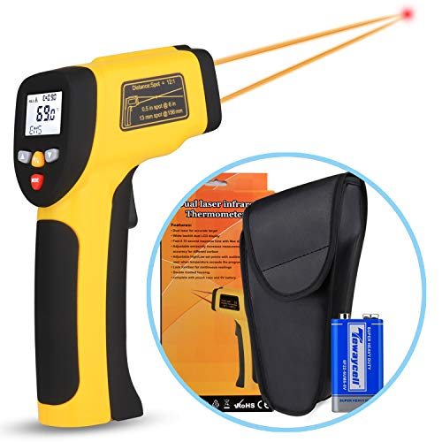 Image of Innens Dual Laser Infrared Thermometer Non-Contact Digital Temperature Gun -58 1022,