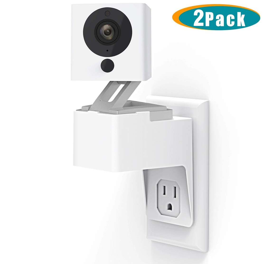 Yi Home Camera AC Outlet Wall Mount 360 Degree Swivel Plug Stand Holder Bracket