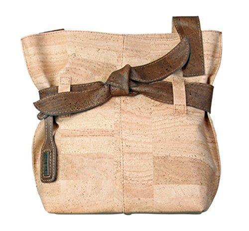 Natural Cork Big Bow Shoulder Bag Made in Portugal