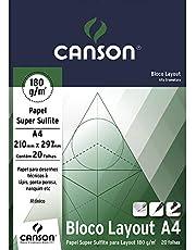 Bloco Técnico A4 180g/m², Canson, 66667027, Layout, 20 Folhas