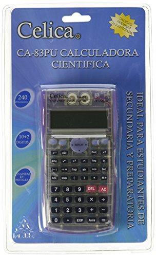 CELICA CA-83/PU Científica de 240 Funciones, 24 Niveles de Paréntesis, Algebra y Pre-Algebra 10+2 Dígitos, Color Morado...