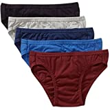 Life by Jockey Mens 100% Cotton Bikini Underwear (5 Pack), Assorted Colors (Small (28 - 30 Waist))