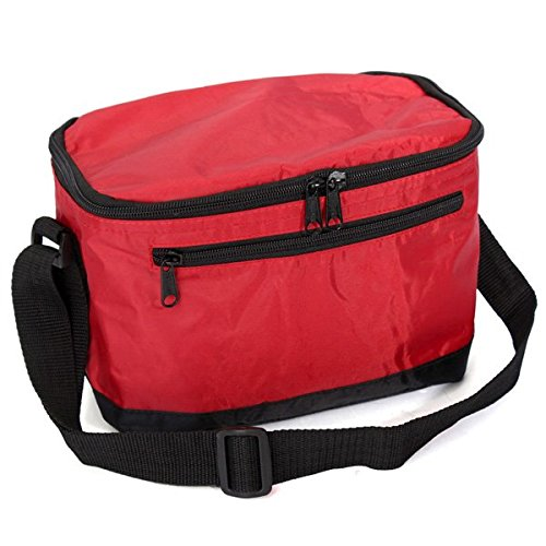 Shop24Hrs Thermal Cooler Waterproof Lunch Bag Portable Insulated Picnic Tote Red Color