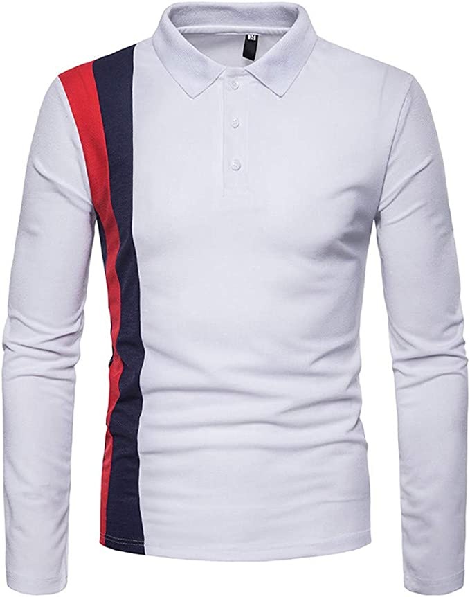 Camisa de Manga Larga para Hombre, suéter de Manga Larga con ...