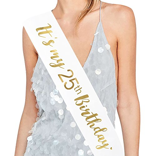 Birthday Party 25th (ADBetty It's my 25th Birthday Sash – 25th Birthday Sash Birthday Girl Sash Birthday Party Favours, Supplies and Decorations)