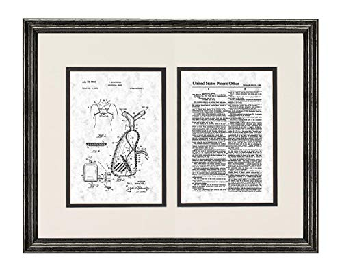- Artificial Heart Patent Art Gunmetal Print in a Black Wood Frame with a Double Mat (20