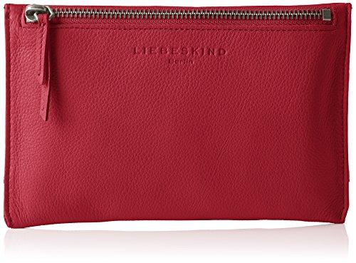 Liebeskind Berlin Damen Kiwir Kosmetiktäschchen, Rot (Cherry Blossom Red 3532), 19x12x1 cm