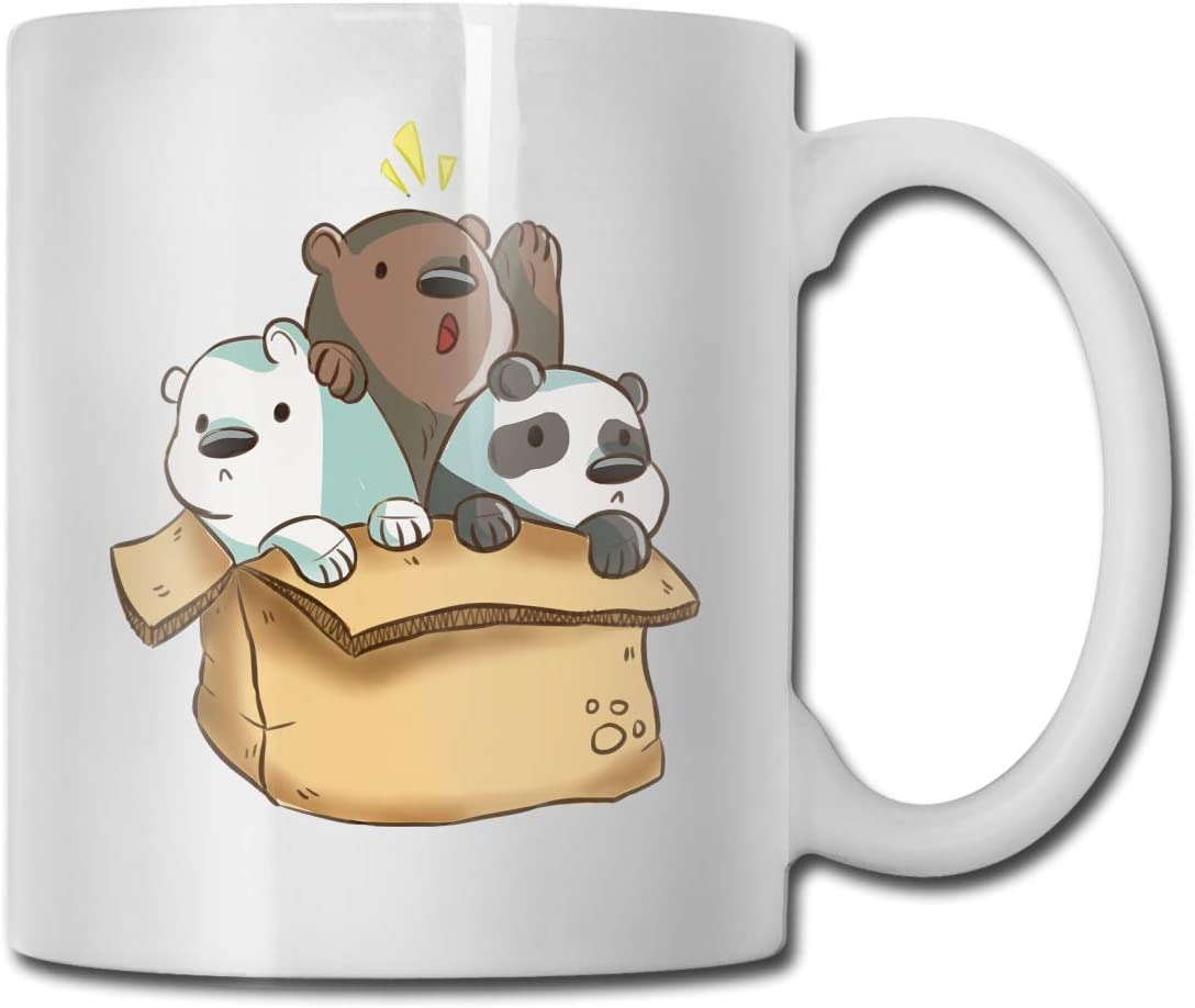 We Bare Bears Ceramic Coffee Mug, Large Tea Mug For Office And Home, Gift Cup