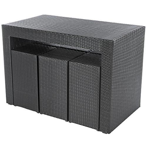Amazon.de: Ultranatura Poly-Rattan 2in1 Bar & Lounge Set Palma ...