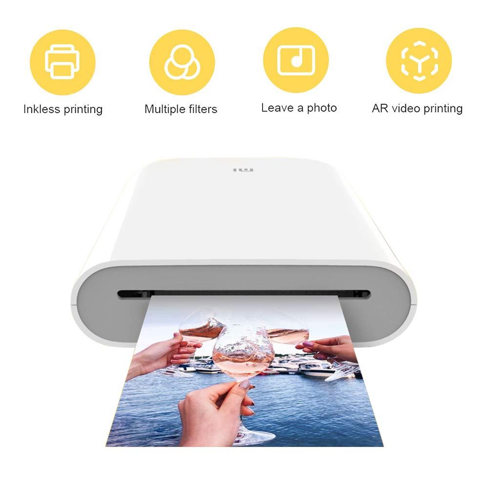 para Xiaomi Mijia Impresora portátil, Bluetooth 5.0, w/Zink ...