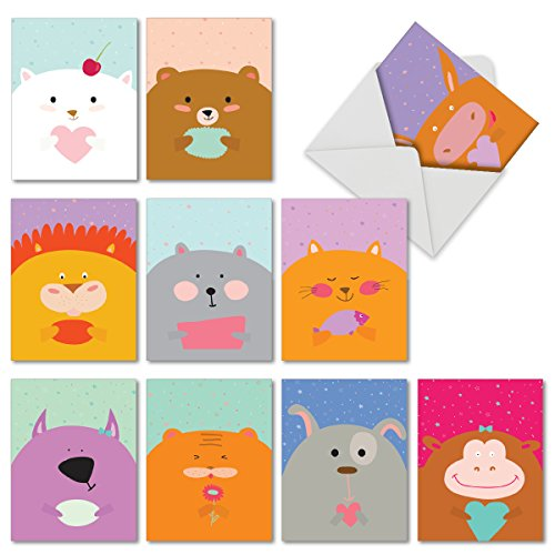 M6584OCBsl Fur You: 10 Assorted Blank All-Occasion Note - Mini Notecards With Envelopes
