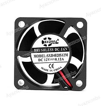 Ayazscmbs Enfriador Ventilador Compatibles para SXDOOL SXD4020S12M ...