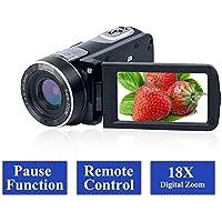 Camcorder Video Camera Full HD 1080p 24.0MP Vlogging...