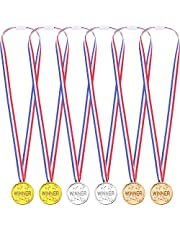 Omenluck 36 Stuks Goud Zilver Brons Winnaar Awards Medailles Winnaar Medailles Kids Plastic
