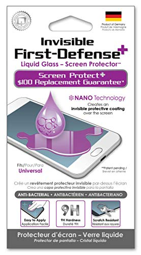 Qmadix Invisible First Defense Liquid Glass Screen Protector for Android/Universal - Retail Packaging - Clear