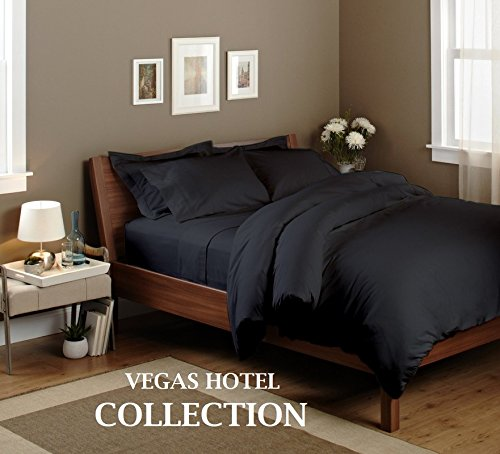 Authentic Vegas Hotel Collection   Luxury 100  Egyptian Cotton 1200 Tc With 15  Inches Pocket Depth   Solid   4 Pc Sheet Set     Queen Size   Grey