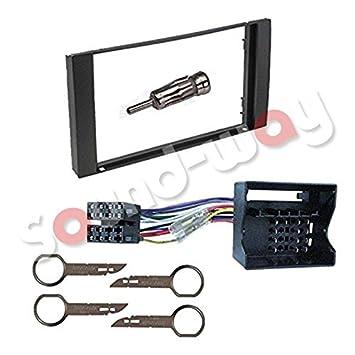 Kit de montaje de radio para Ford con marco embellecedor de radio, 2 DIN y adaptador ISO: Amazon.es: Coche y moto
