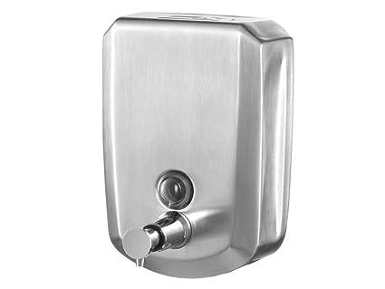 Bisk dispensador de jabón líquido con Cerradura con Llave, Plata, 500 ML