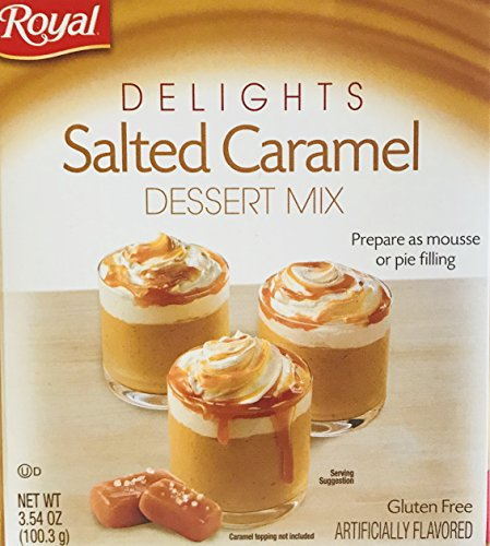 Royal Delights Dessert/Pie Filling Mix Choose From 2 Flavors Salted Caramel or Strawberry Creme Just Mix Chill amp Enjoy 1 Box Salted Caramel Dessert Mix 354oz