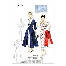 Vogue Ladies Sewing Pattern 8875 Vintage Style Dress, Belt, Coat & Detachable Collar