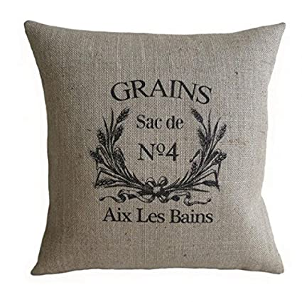 Amazon Funny Wholesale French Grain Sack Burlap Cotton Linen Awesome Decorative Pillow Covers Wholesale